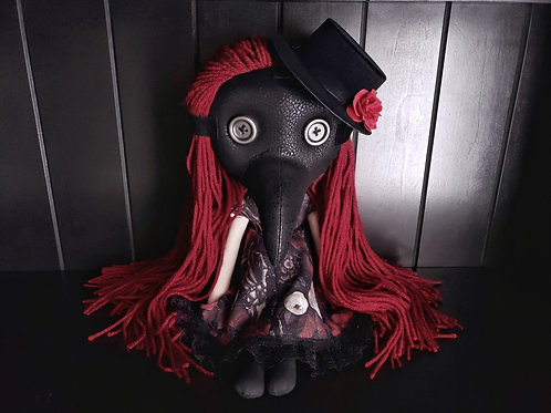 "18"" Handmade Plague Doctor Doll"