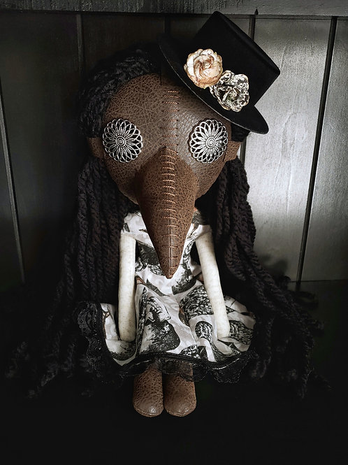"16"" Handmade Plague Doctor Doll"