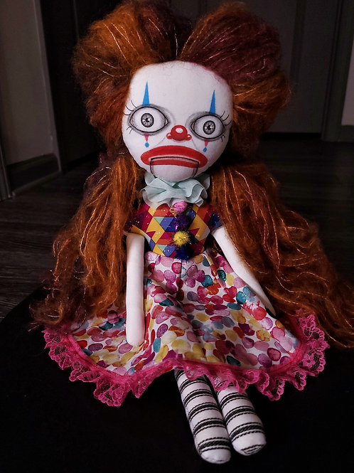 "18"" Handmade Clown Doll"