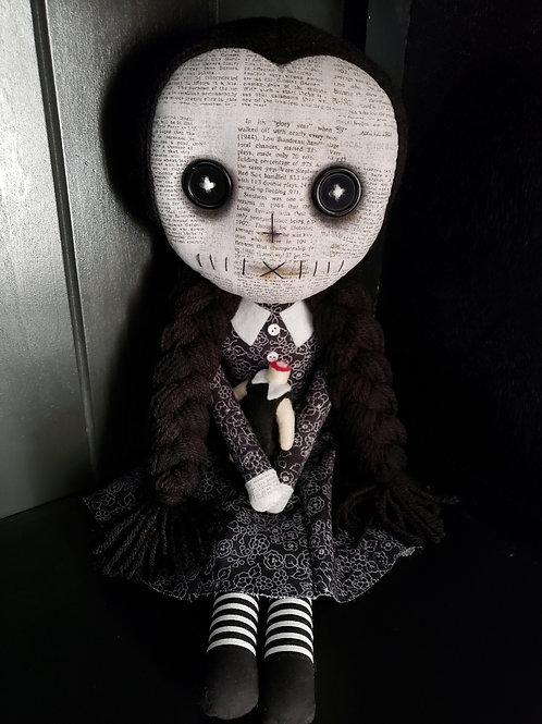 "16"" Handmade Wednesday Addams Doll"
