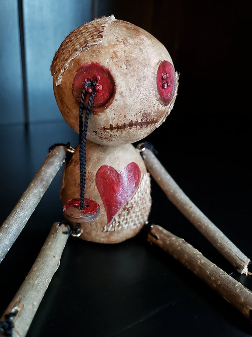 "4"" Handmade Voodoo Doll 'George'"