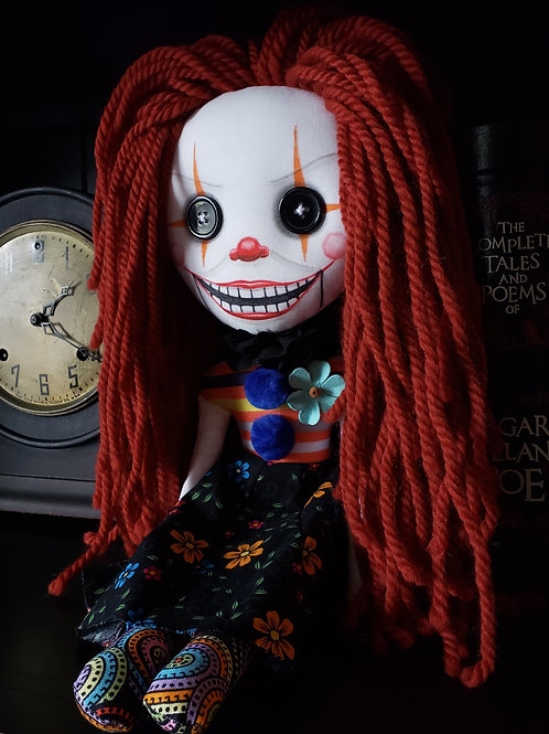 "16"" Handmade Clown Doll"
