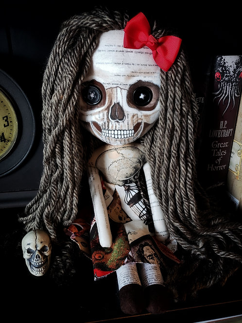 "16"" Handmade Skull-faced Doll"