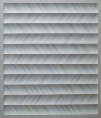 acrylic and pencil on wood 54 x 46 x 2 inches
