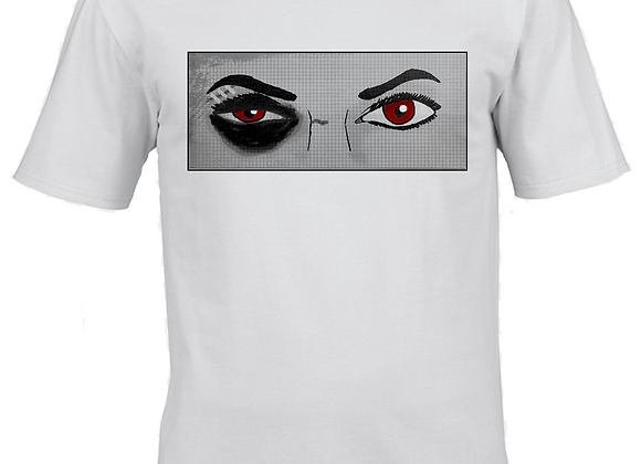 Female Boxer Editorial- Dualtone Ink- White T-Shirt