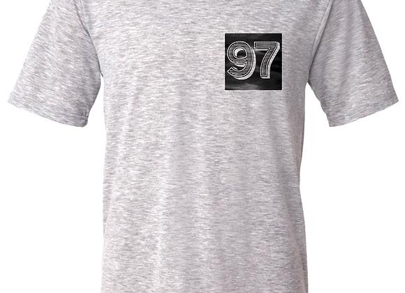 97 Halftone- Breast Print- Grey T-Shirt