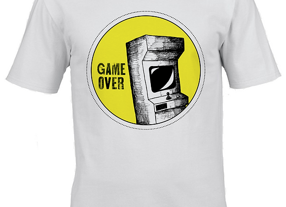Game Over- Large Print- White T-Shirt