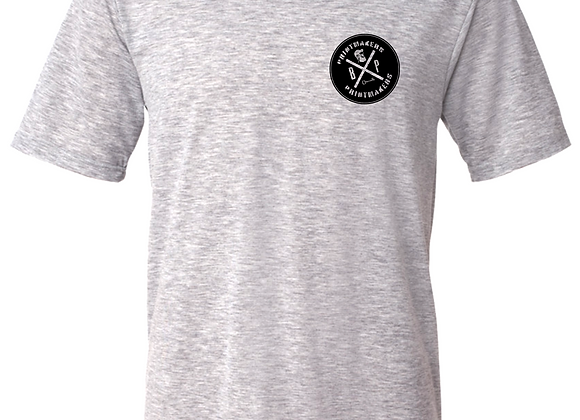 Prntmkr Logo- Breast Print- Grey T-Shirt