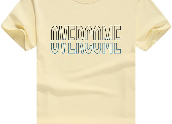 Overcome- Dual Print- Off-White T-Shirt