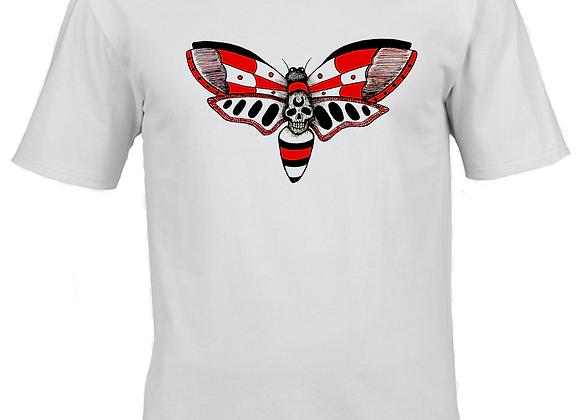 Float Like A- Dualtone Centre Print- White T-Shirt