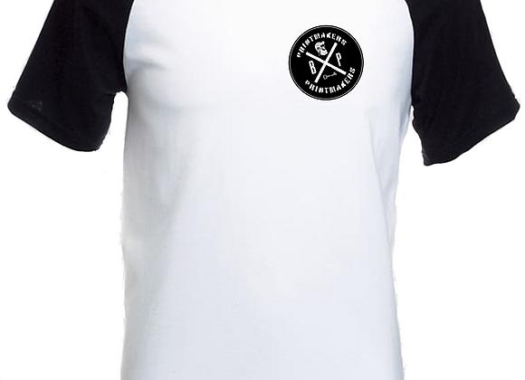 prntmkr Logo- Breast Print- Raglan White T-Shirt