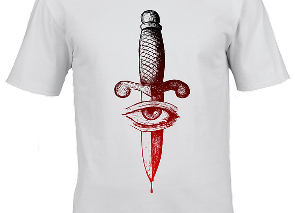 Dagger- Two Tone- White T-Shirt