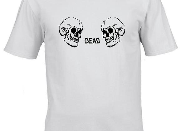 Double Dead- Black Ink Print- White T-Shirt