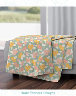 Throw Blanket, available from Spoonflower.com