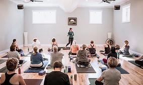 sandy raper yoga class