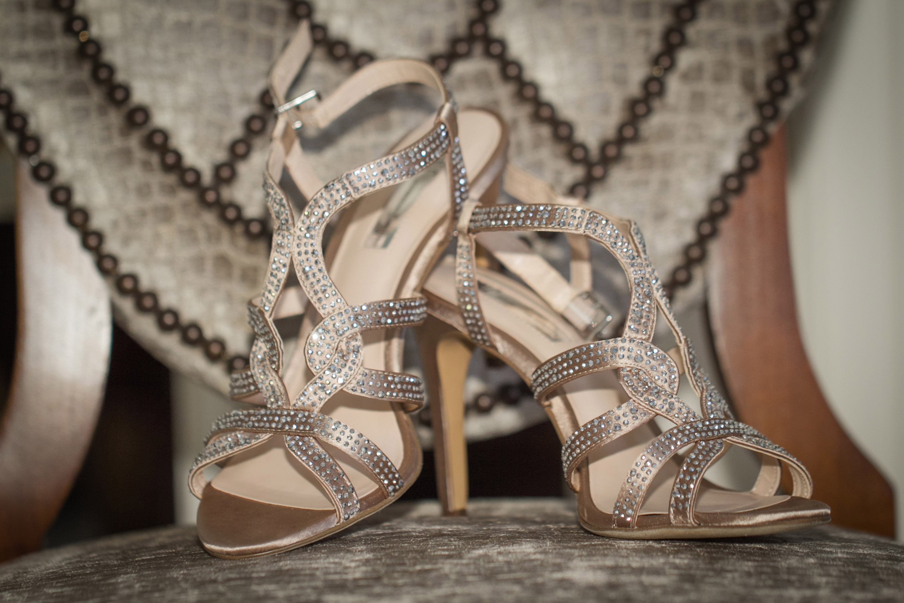 Wedding photography, shoe photo.