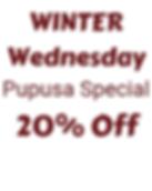 Winter Pupusa Special