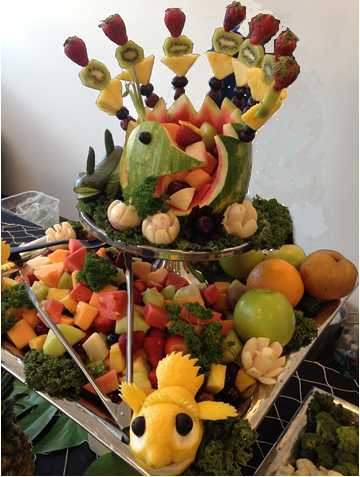 Fun fruit carvings