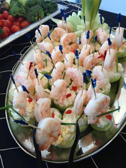 Cucumber Shrimp bites