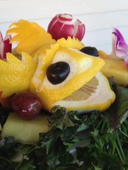 Custom fruit and veggie carvings