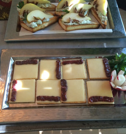 White cheddar with plum paste