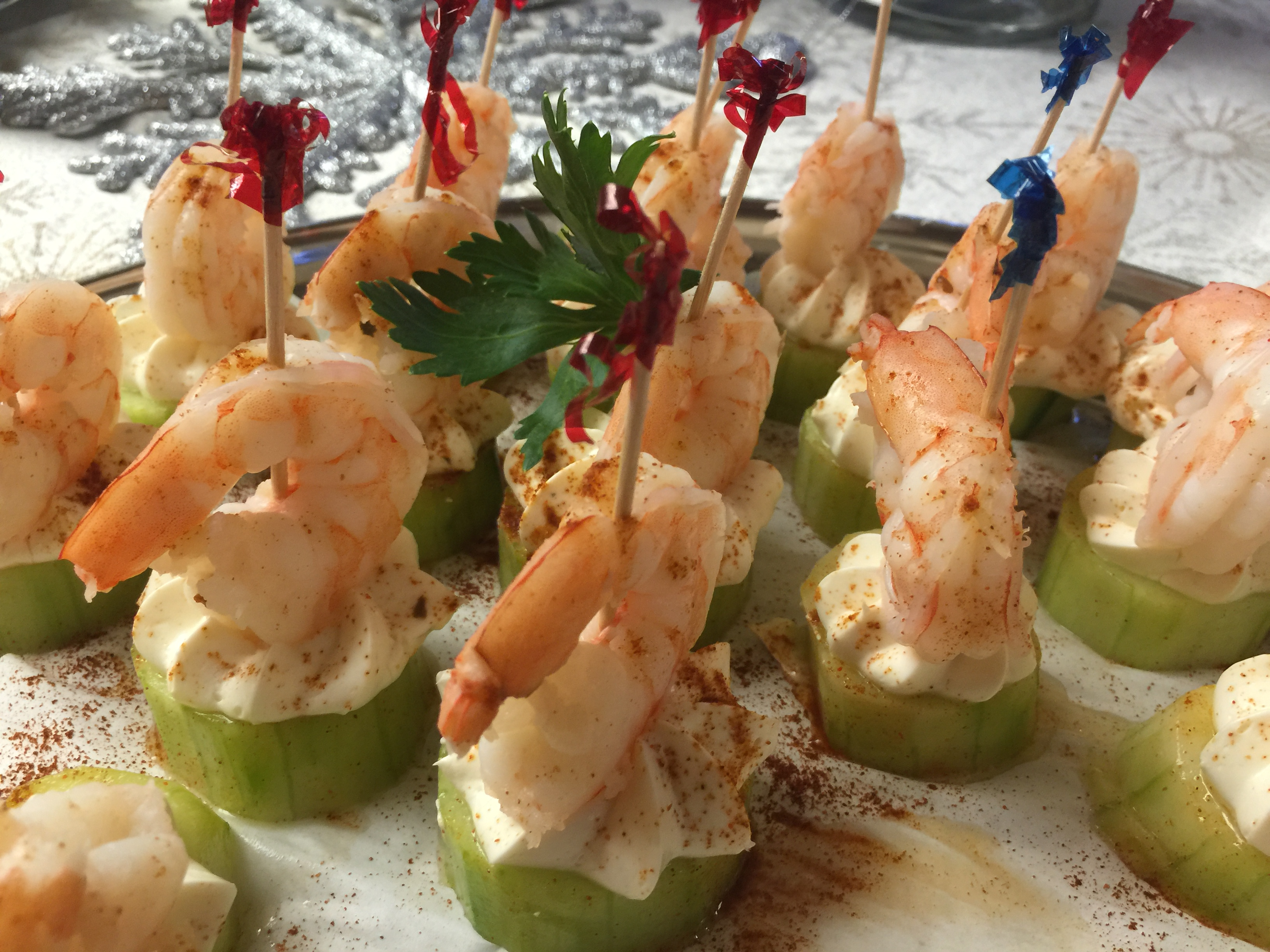 Shrimp Cucumber Bites