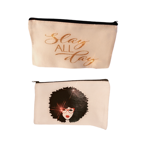 Make Up Bag Afro Girl/Slay All Day