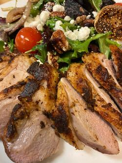 Blackened Duck Breast Salad