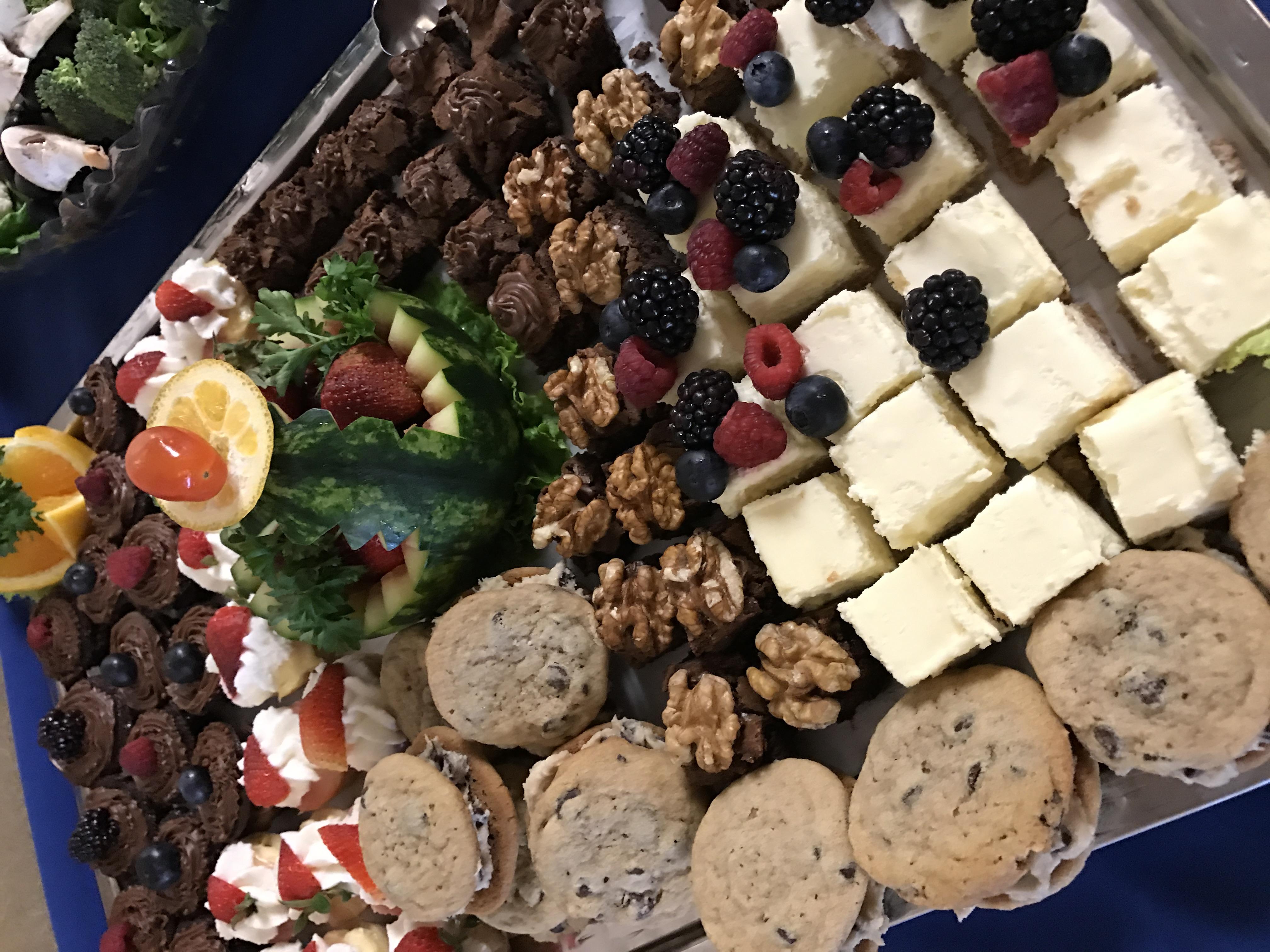Delicious bite size desserts