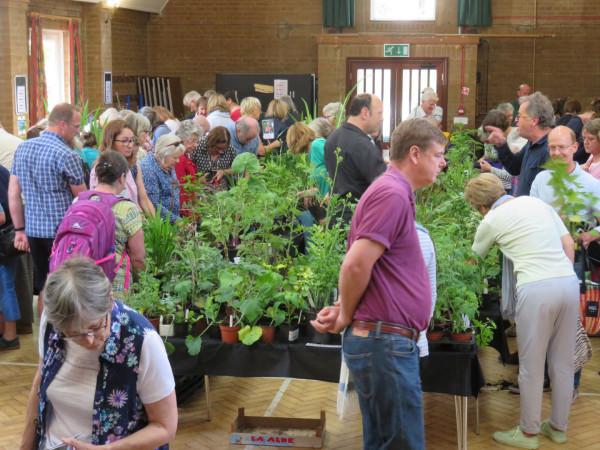 Plants Sales always draw a good crowd