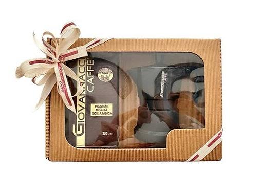 Dárkové balení - Moka konvička a mletá zrnková káva 250 g