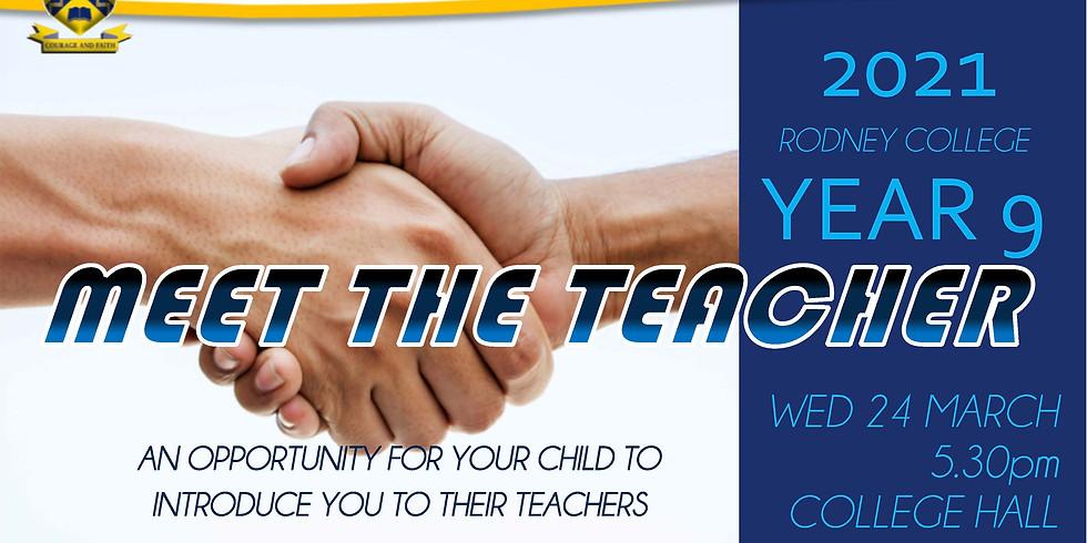 YEAR 9 MEET THE TEACHER EVENING
