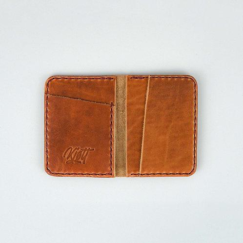 020 - 4 Pocket Card Wallet in Horween Dublin Natural - Street logo