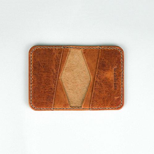 021 - 4 Pocket Bifold Horween Dublin Natural - Long logo