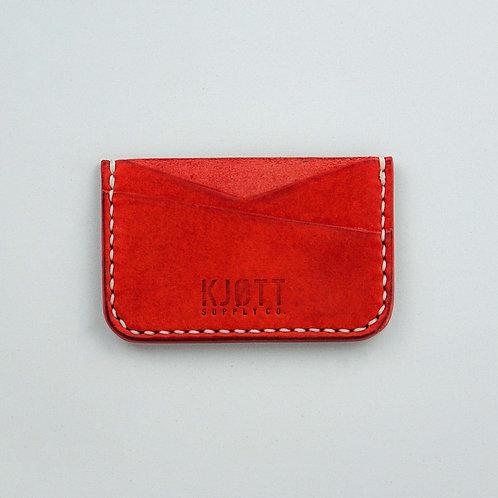 008 - Horizontal Minimalist Card Holder in Pueblo Papavero - Stacked logo