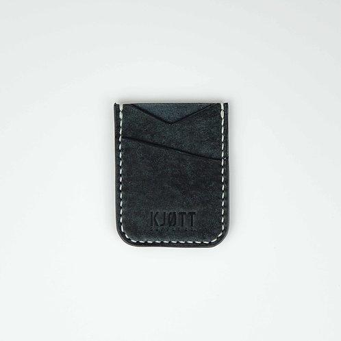 005 - Vertical Minimalist Card Holder in Pueblo Navy - Stacked logo