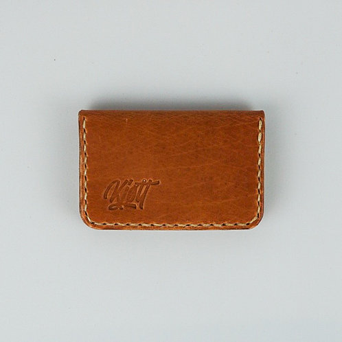 017 - 3 Pocket Card Wallet in Horween Dublin Natural - Street Logo
