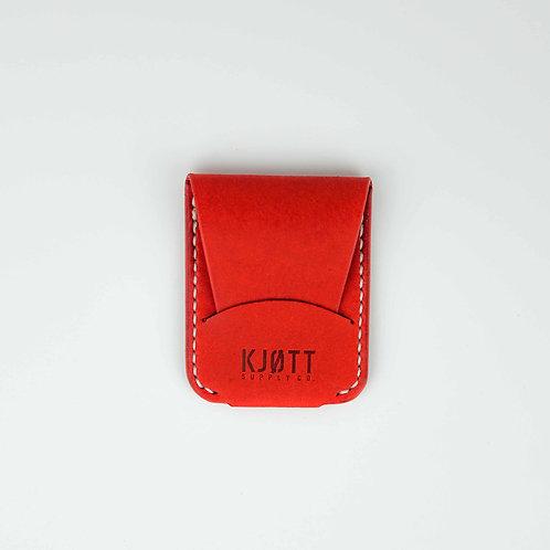 010 - Vertical Minimalist Card Holder in Pueblo Papavero - Stacked logo