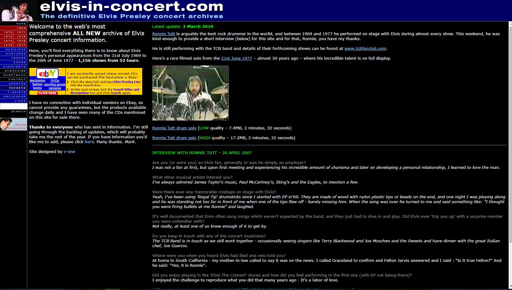 Elvis In Concert.com