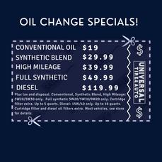 Oil Change Specials