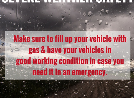 Severe Weather Safety for your Vehicle