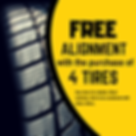 Buy 4 Tires, Get a Free Alignment. Tire Coupon.
