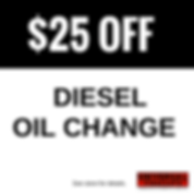 $25 off diesel oil change coupon | Universal Tire & Auto | Longwood, Florida