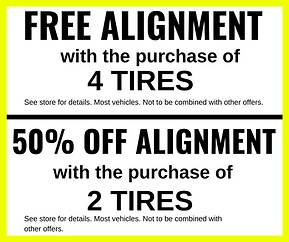 Free Alignment with Purchase of 4 Tires - Longwood, FL - Universal Tire and Auto