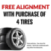 Free alignment with purchase of 4 tires couponUniversal Tire & Auto | Longwood, Florida