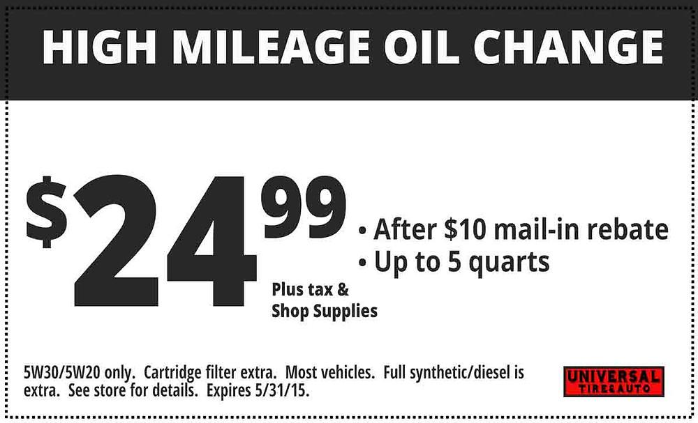 longwood high mileage oil change