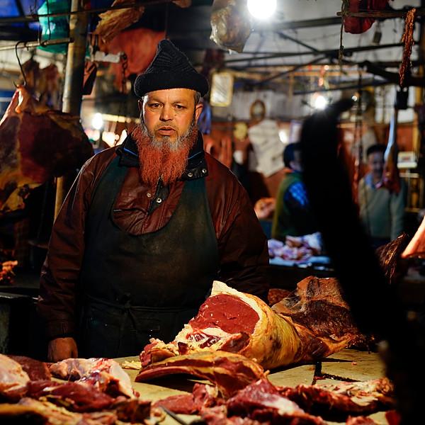 Meat market - Darjeeling, India