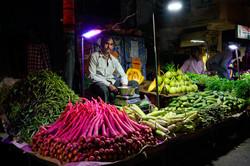 Les marchés nocturnes de Dehli