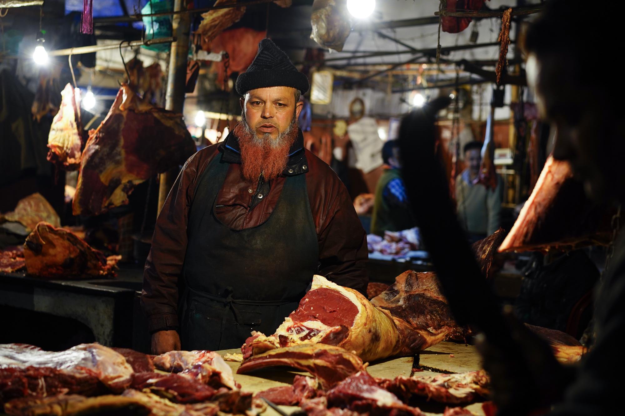 Le marché de viandes