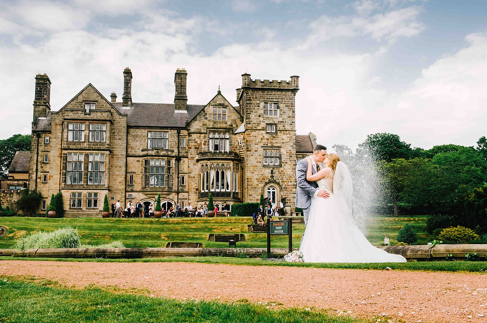 Chloe Creative Photography Couple married kissing derbyshire venue breadsall priory